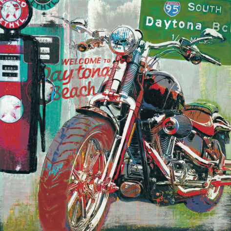 Motorcycle Art Print Daytona Beach