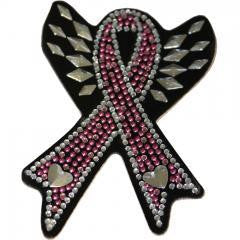 Rhinestone Helmet Patch  Breast Cancer or Support the Troops