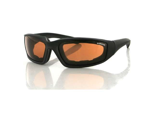 Biker Glasses - Foamerz 2 Sunglasses, Blk Frame, Anti-fog Amber, Smoked or Clear, ANSI Z87