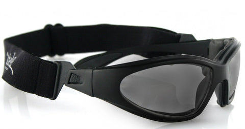 Biker Glasses - GXR Sunglasses, Black Frame, Anti-fog Black, Smoke or Clear Lenses