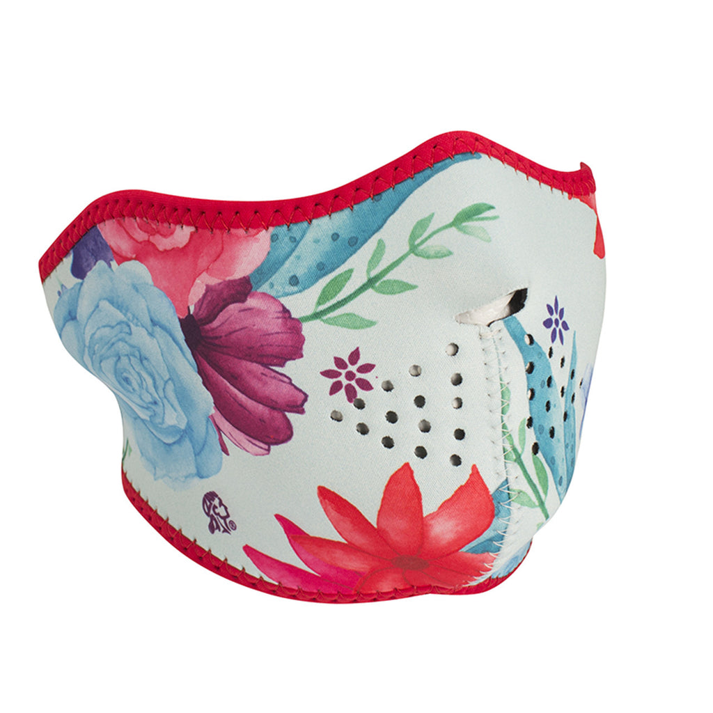 Neoprene 1/2 Face Mask - Watercolor Flowers