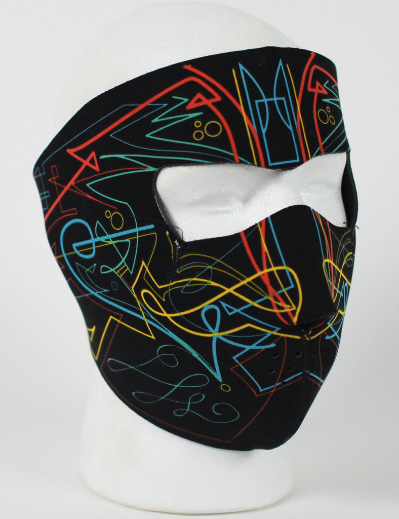 Neoprene Face Mask- Pin Stripe