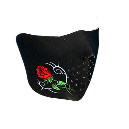 Neoprene 1/2 Face Mask - Rose