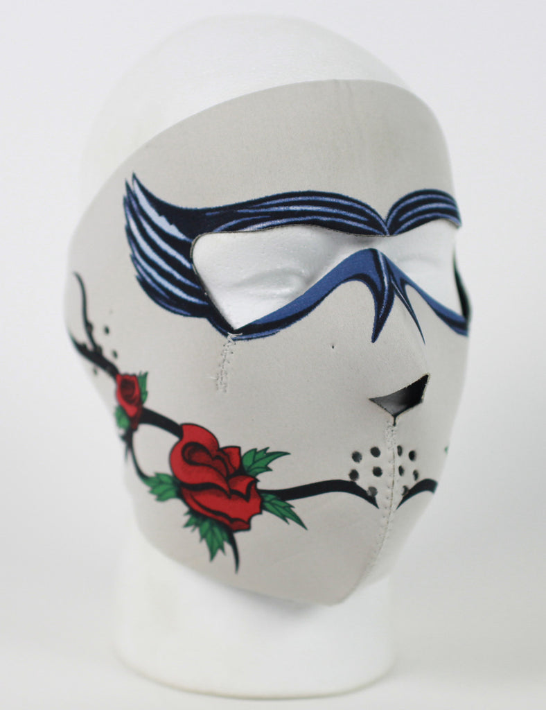 Neoprene Face Mask- Dark Rose