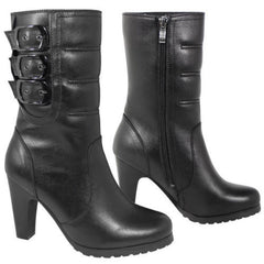 Women's Fashion 3-Buckle Motorcycle Style Boots