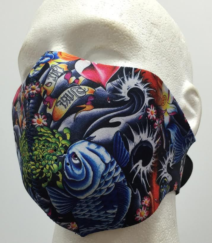 Neoprene Face Mask Koi
