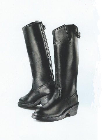 Custom Womens Motorcycle Patrol Boots - Black