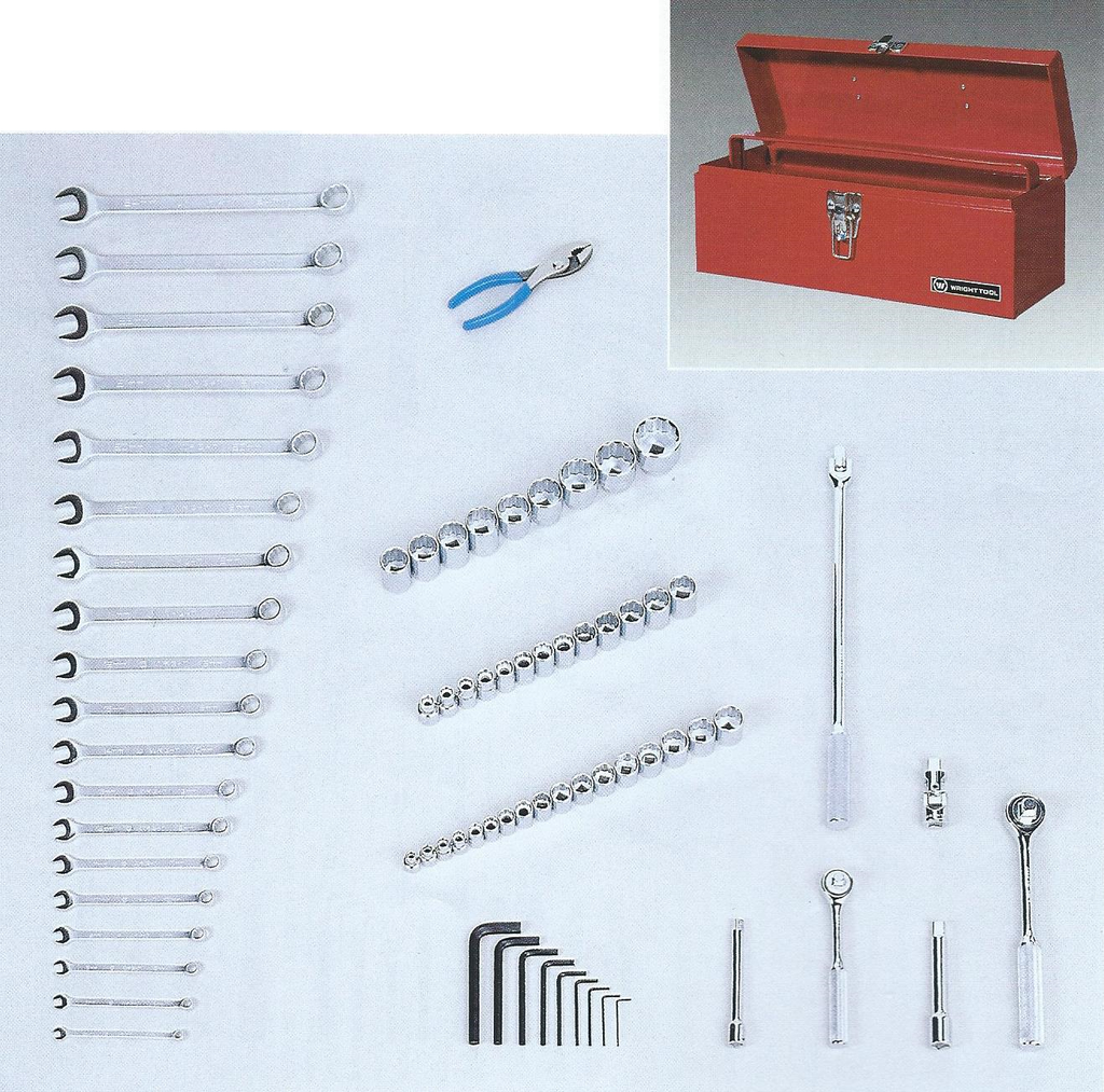 Wright Tools VMC 75 Pc. Metric Apprentice Set with Tool Box and Tray