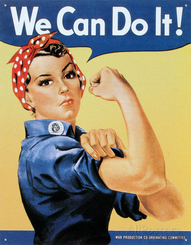 "Tin Sign ""Rosie the Riveter"""