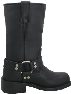 Womens Motorcycle Boot Classic Harness Black - Import