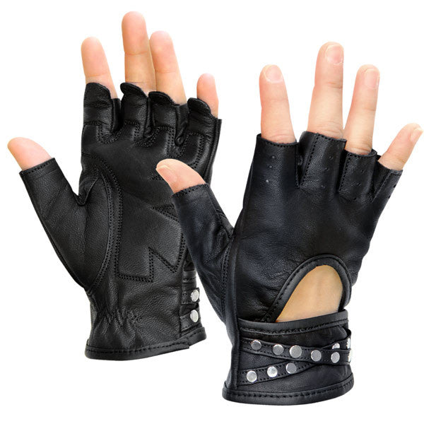 Women's Idol Fingerless Leather Gloves
