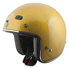 "A Retro Look Speed and Strength ""Speed Metal"" Helmet Gold, Orange, Red or Black"