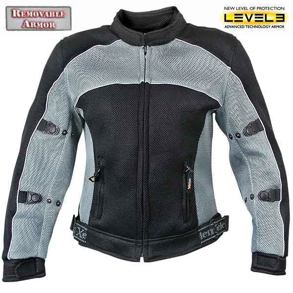 Womens Mesh Sports Armored Motorcycle Jacket.