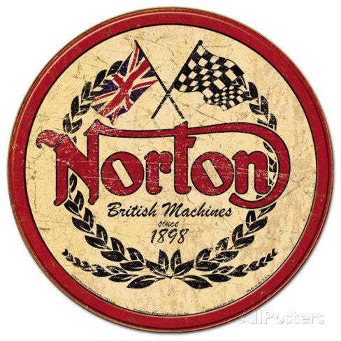 Tin Sign Norton Logo Round