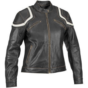 "Womens Motorcycle Jacket River Road Vintage ""Babe"""