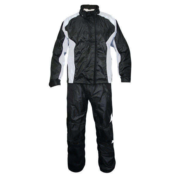 StormX Women's Two-Piece Rainsuit Black/Silver