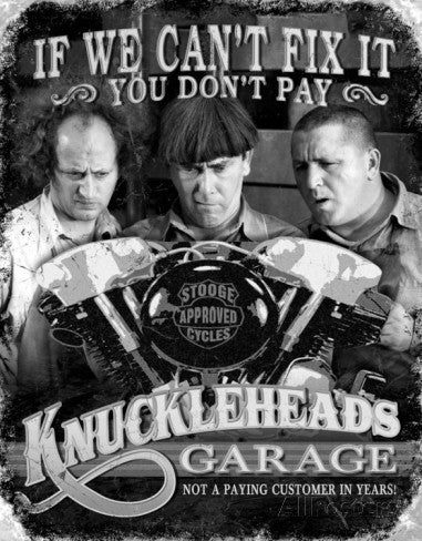 Tin Sign Knuckleheads Garage
