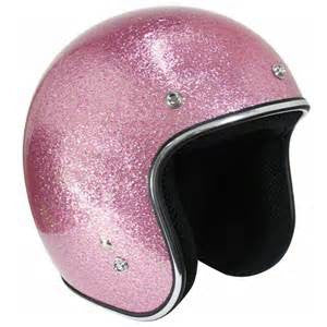 DOT Open Face Pink Flake Helmet