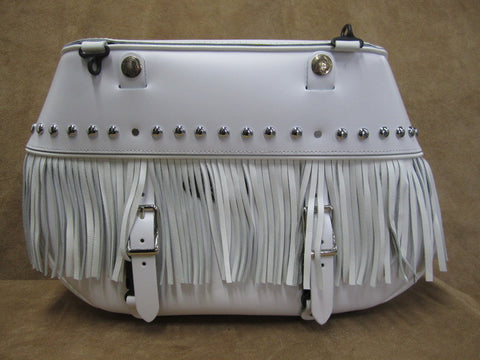 Saddlebag White Leather - Leatherworks
