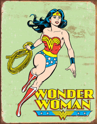 Tin Sign Wonder Woman