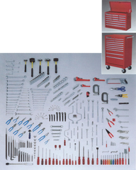 Wright Tools VMH 374 Pc Master Maintenance Set Including WT814 Twelve-Drawer Chest and WT896 Eleven-Drawer Roller Cabinet