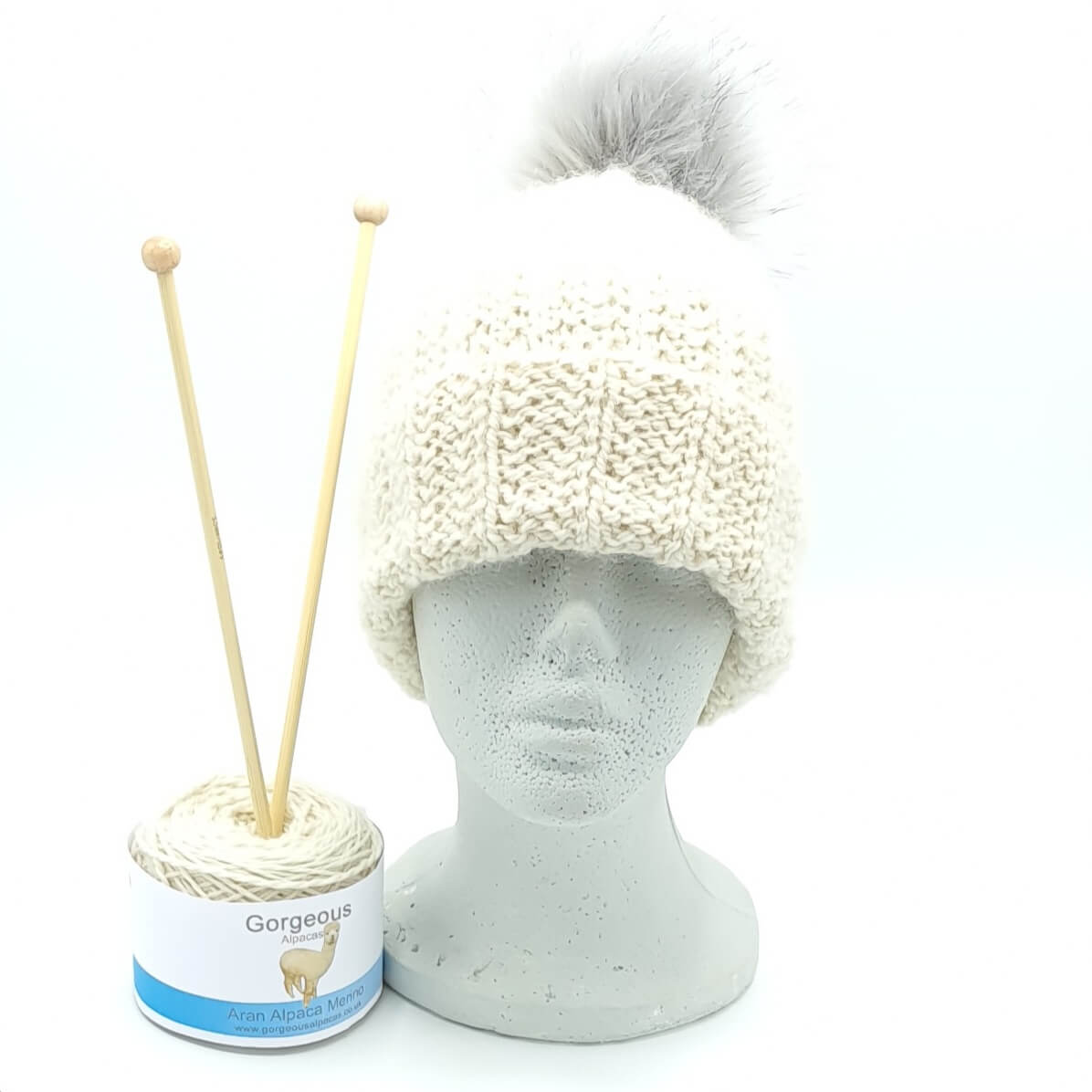 Knit Kit - Aran 3-to-1 Hat - Gorgeous Alpacas
