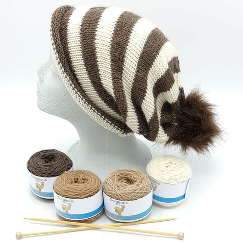 Knit Kit - Striped Easy to Knit