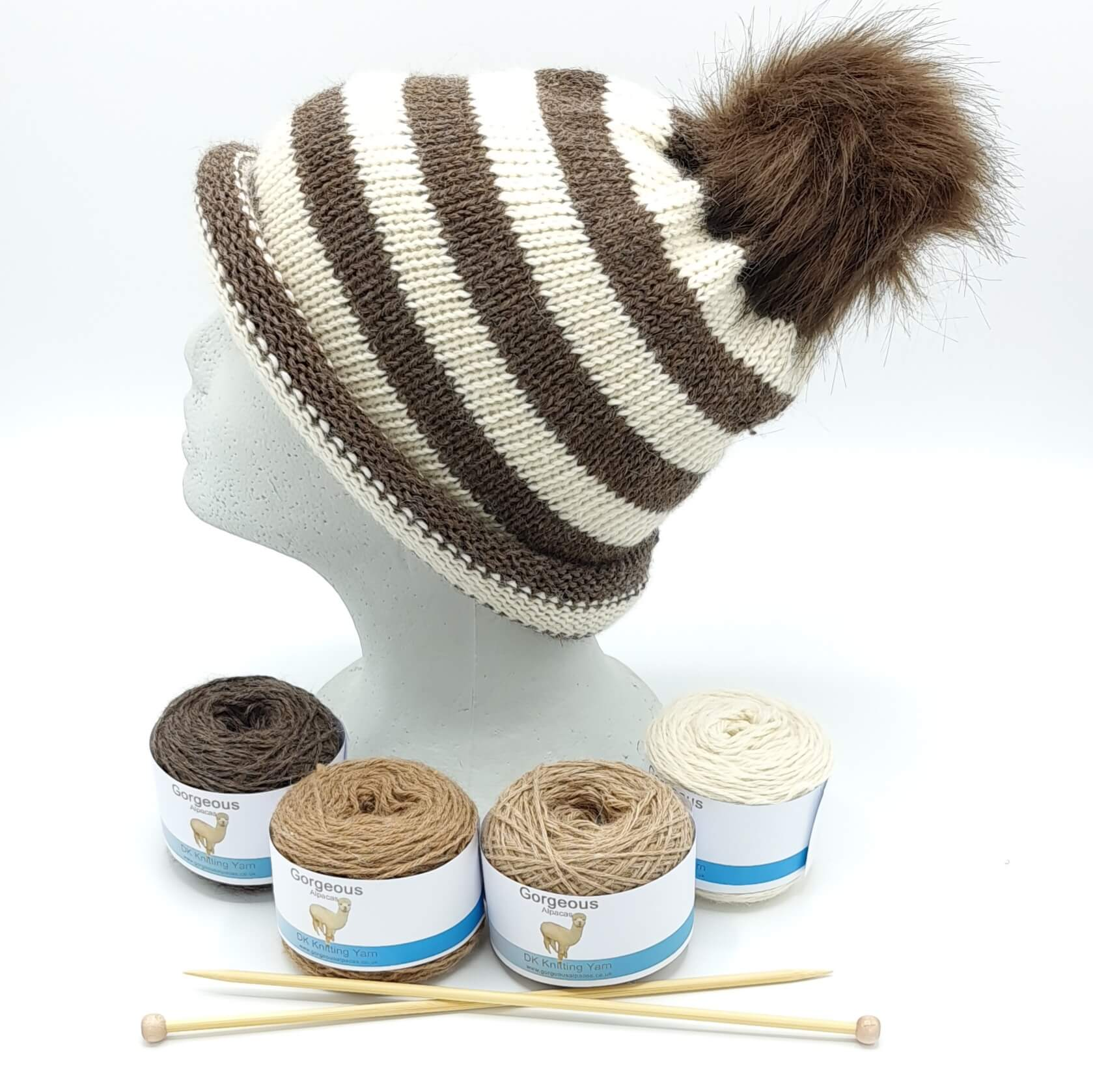 Knit Kit - Striped Easy to Knit +