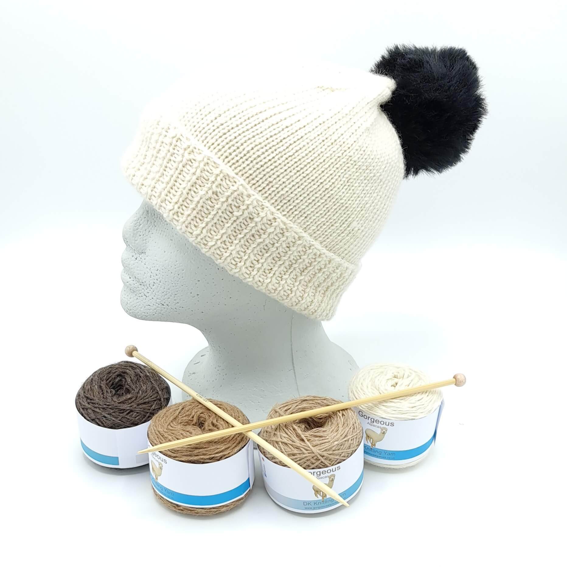 Knit Kit - Classic Beanie + - Gorgeous Alpacas