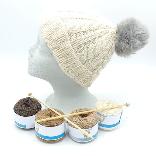 Knit Kit - Cable Beanie