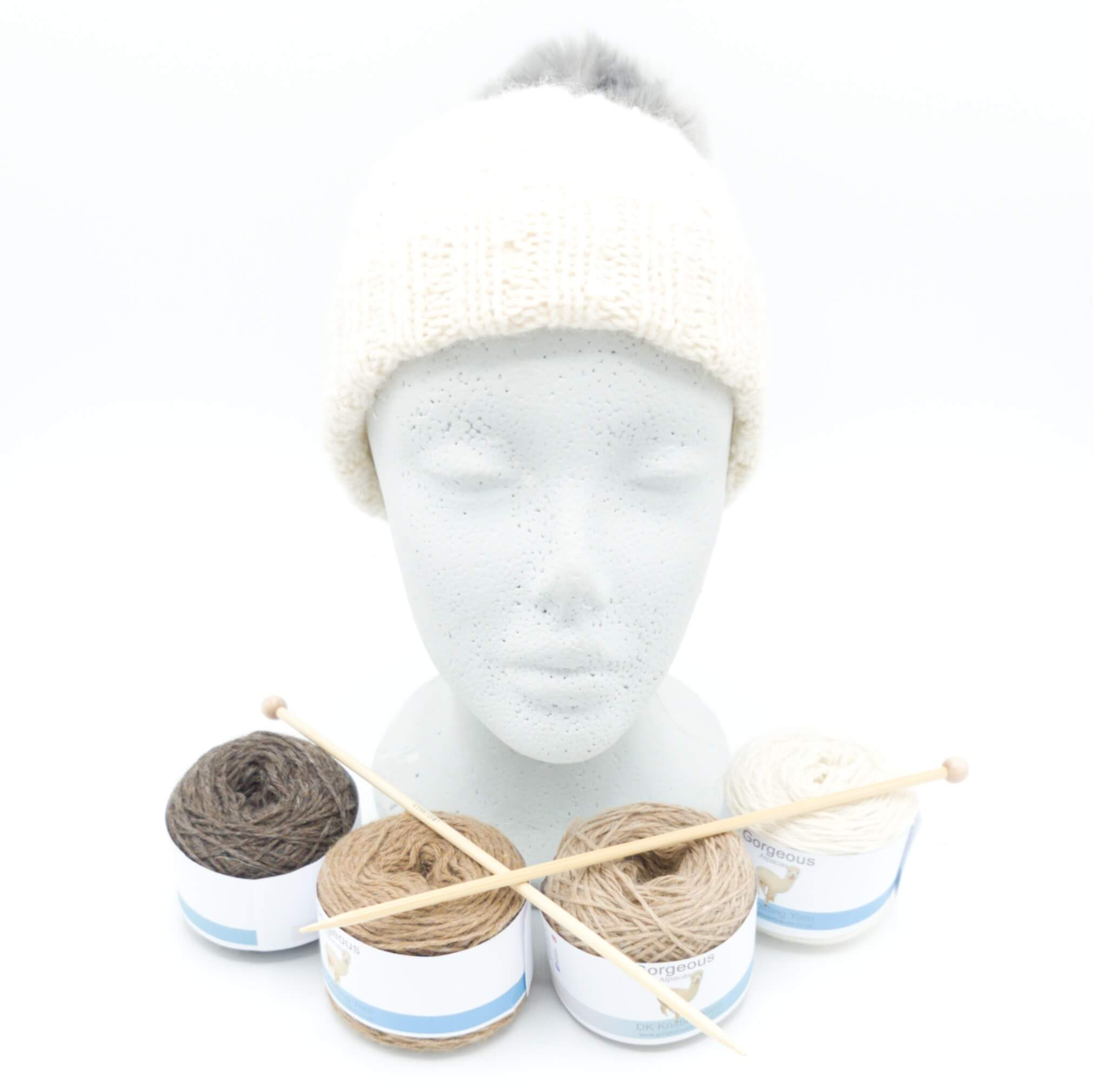 Knit Kit - Cable Beanie +
