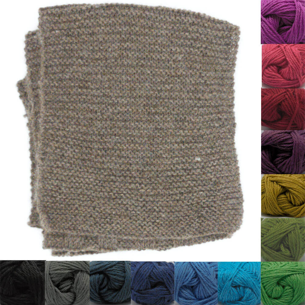 Knit Kit - Beginners' Garter Scarf +