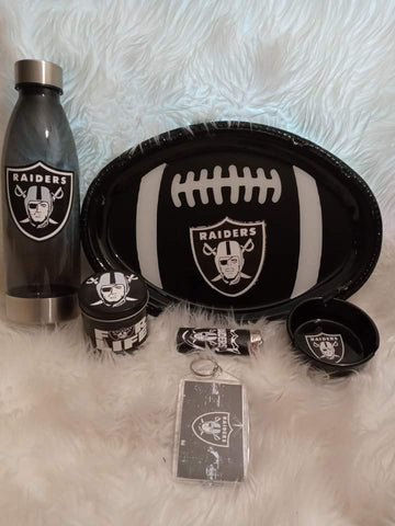 Raiders Inspired Tray Set