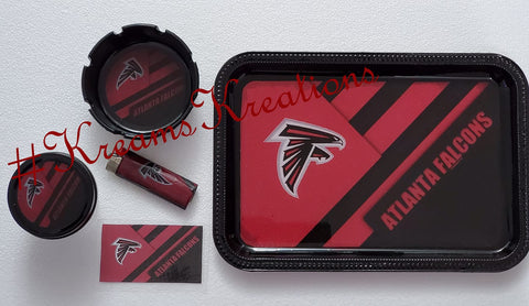 Atlanta Falcons Inspired Tray Set