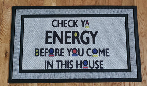 Check your Energy - Indoor/Outdoor Doormat
