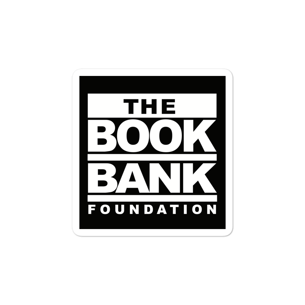 Book Bank Foundation Fundraising Bubble-free stickers