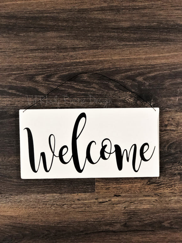 Decorative Welcome Sign