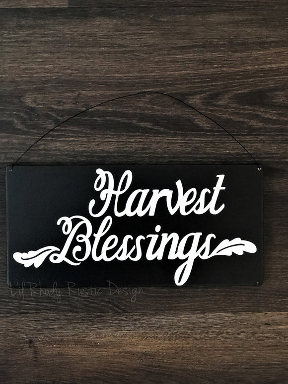 Harvest Blessings Hanging Sign