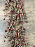 Burgundy Pip Berry Garland, Country Garland, Floral Garland