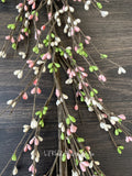 Pink, Green and White Pip Berry Garland