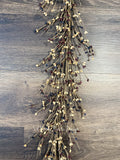 Black, Tan and Burgundy Pip Berry Garland