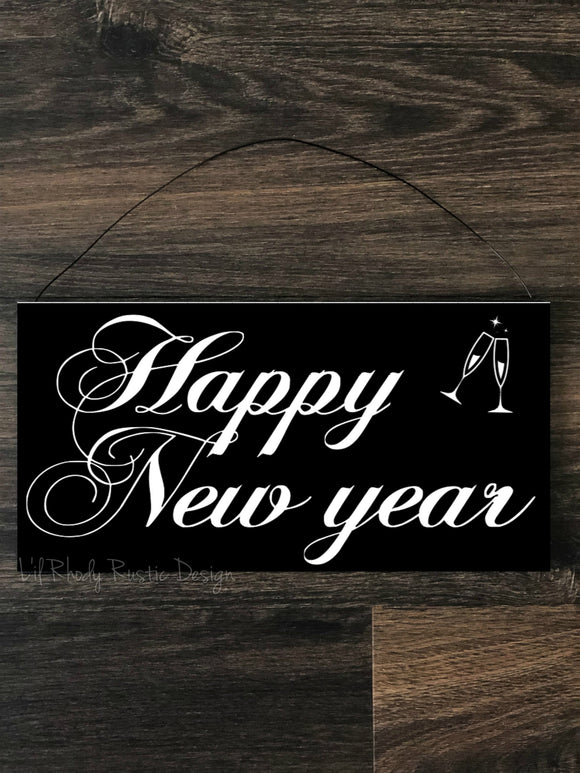 Happy New Year Hanging Sign