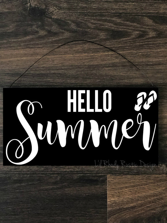 Hello Summer Hanging Sign
