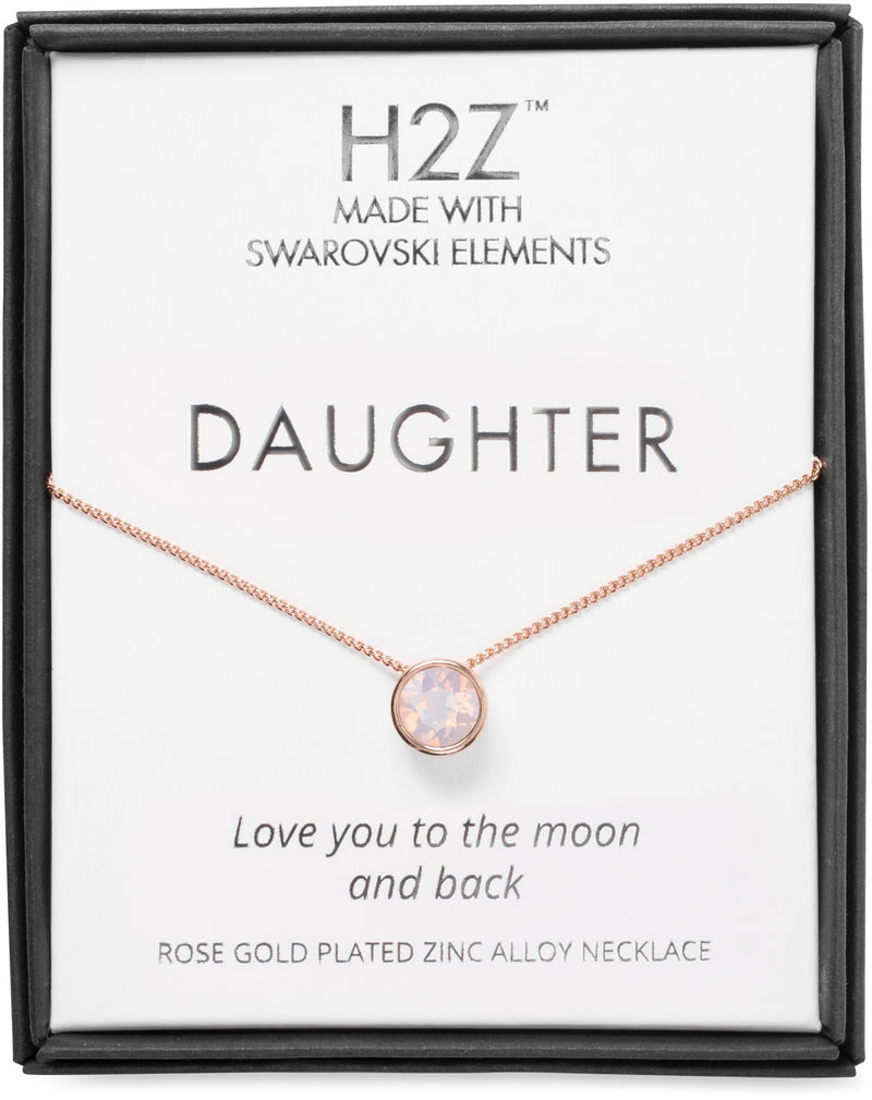 "H2Z Daughter Rose Water Opal - 16"" - 17.5"" Rose Gold Necklace"