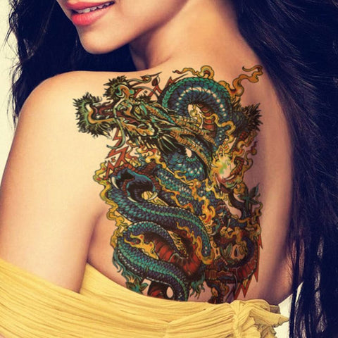 Gold Color Dragon Tattoo meaning