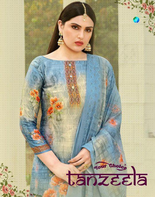 Your Choice Tanzeela Jam Silk Cotton Plazzo Style Salwar Kameez Catalog - theempirehubs