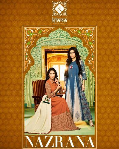 Kiana Nazrana Fancy Summer Wear Traditional Embroidery Work Kurtis Catalog Collection - theempirehubs