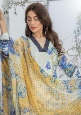 Sana Safinaz Kurnool Lawn Collection 20 Pakistani Style Dress Material - theempirehubs