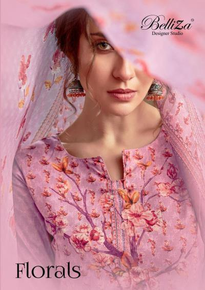 Belliza Florals 2 Premium Cotton Collection Of Suits Catalog Collection - theempirehubs