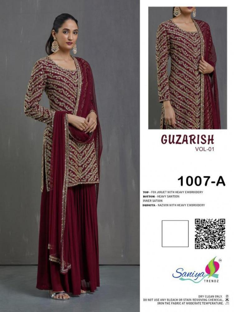 Saniya Guzarish 1 Georgette Embroidery Suits Catalog Collection - theempirehubs